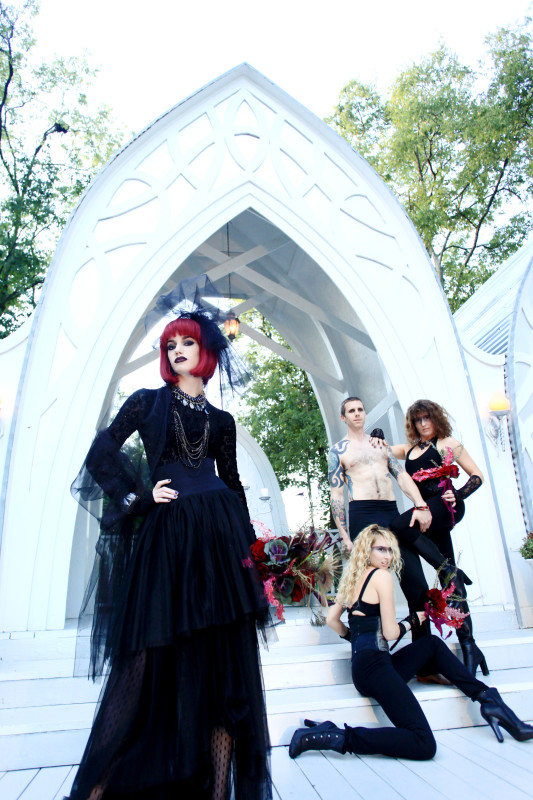 gothic fashion with men and women