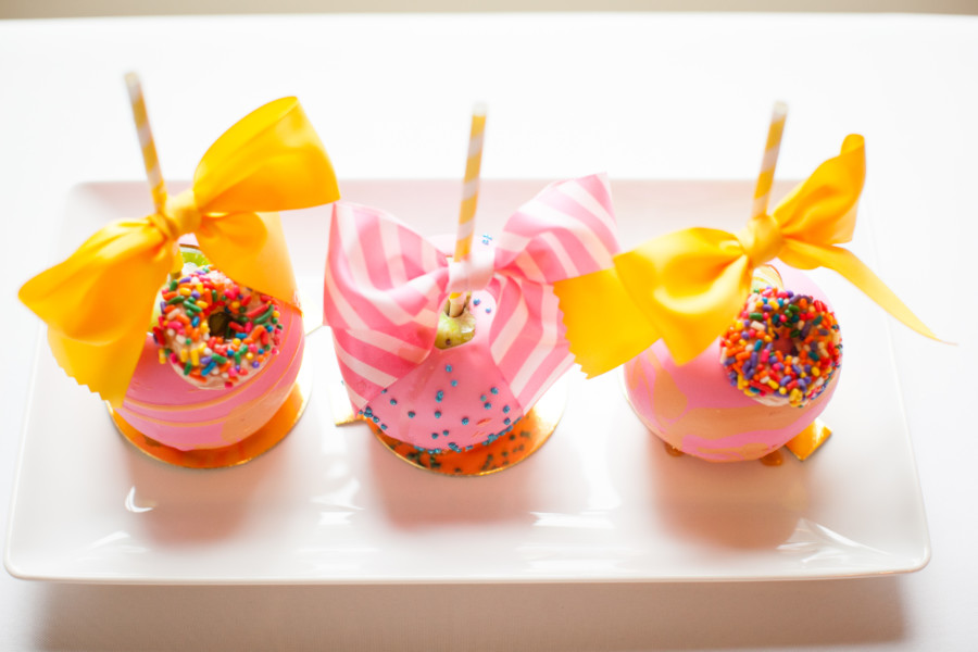 tiny candy apple party favors